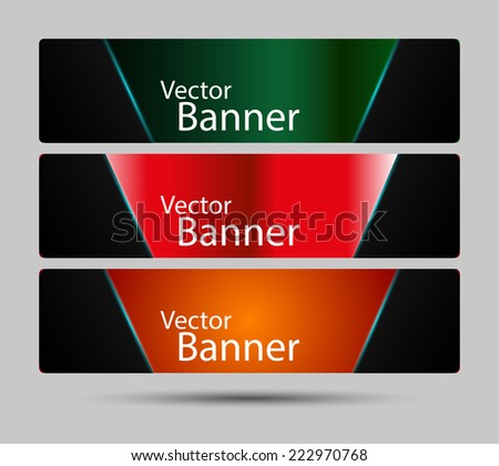 Collection banner design background, vector illustration - stock vector
