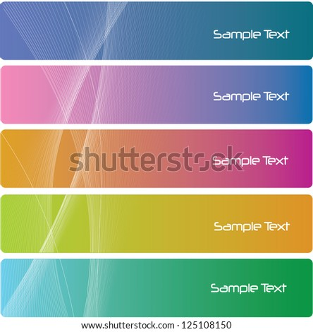 Collection banner design, colorful - stock vector