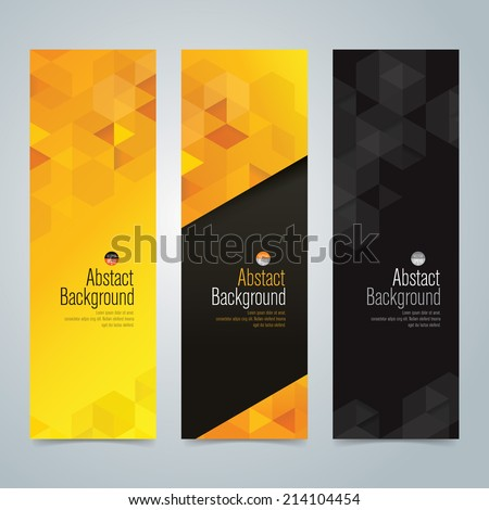 Collection banner design, yellow and black background, vector illustration. - stock vector