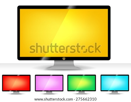 Collection color of vector monitor