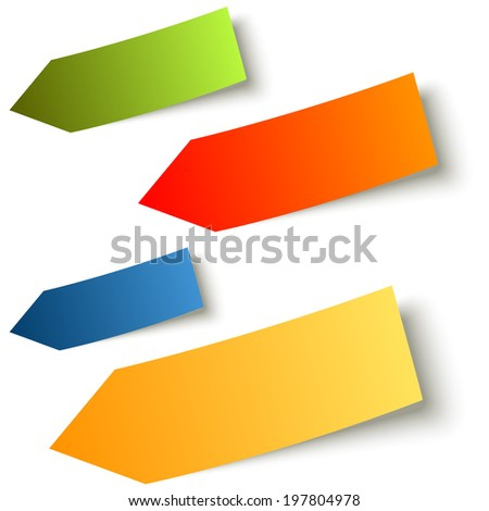 Collection - colorful sticky notes arrow - stock vector