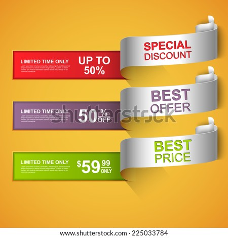 Collection curved sale banners