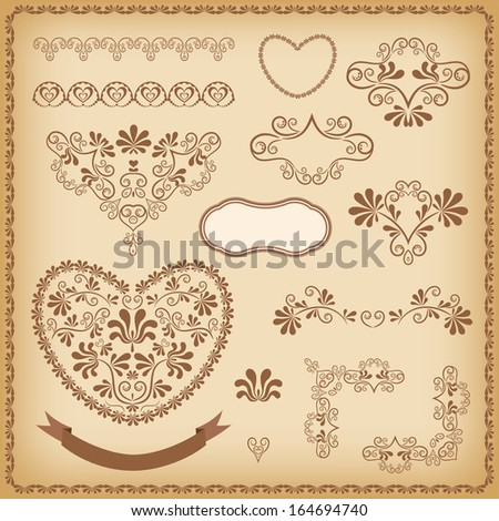 Collection design elements. Vector illustration. - stock vector
