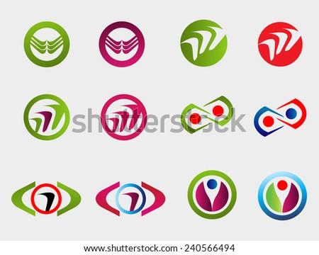 Collection logo template   - stock vector