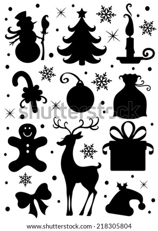 Collection of a Christmas icons. - stock vector