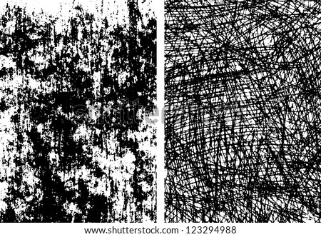 Collection of  abstract grunge texture on the white background - stock vector