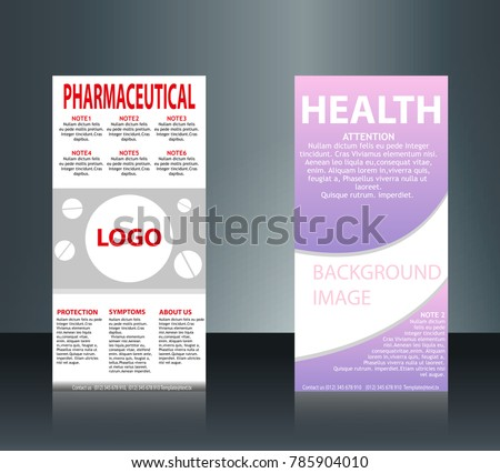 Collection 2 abstract medical business cards stock vector hd collection of 2 abstract medical business cards or visiting cards on different topic arrange in reheart Image collections