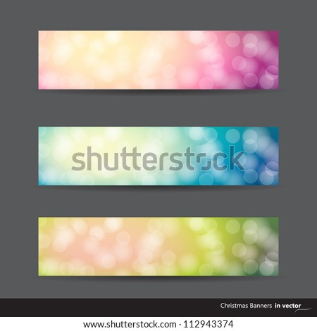 Collection of abstract modern banners in different colors