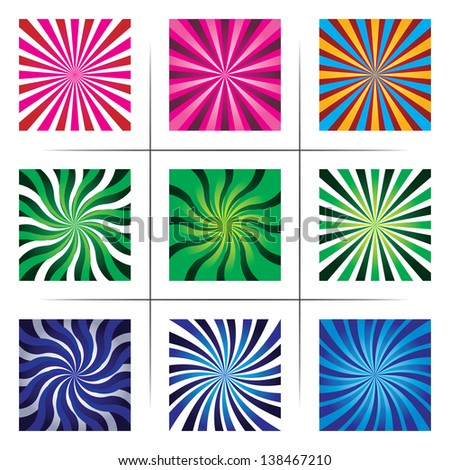 collection of abstract multicolor backgrounds. set 2. eps10 - stock vector