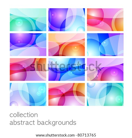 Collection of abstract multicolored backgrounds. Vector.
