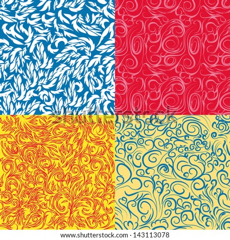 collection of abstract seamless textures. Vector illustration