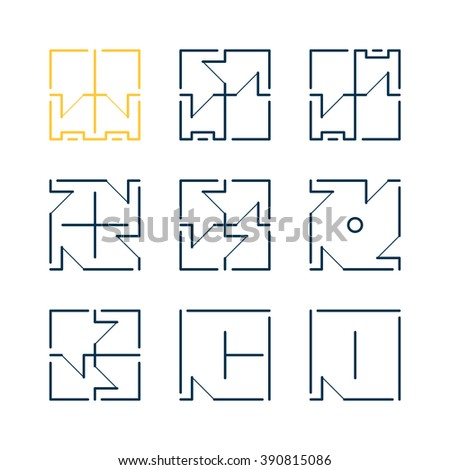 Architect Company collection architect elementsshapesiconlogotemplate architecture