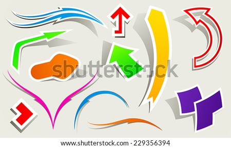 Collection of arrow pointers - stock vector