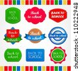 Collection of back to school labels - stock vector