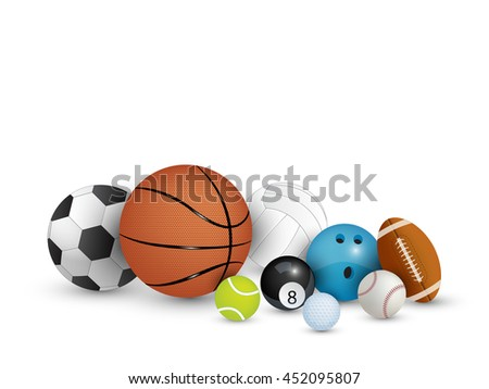 Collection of balls isolated on white background (Vector eps10)