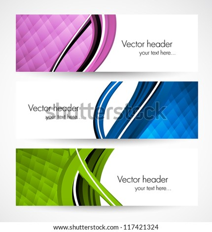 Collection of banners - stock vector