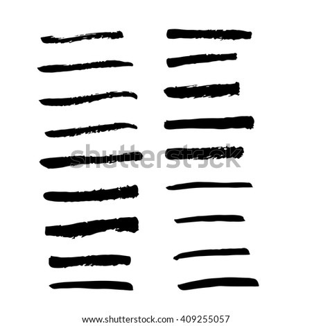 Collection of black ink art brush  vector if you like grunge.brush