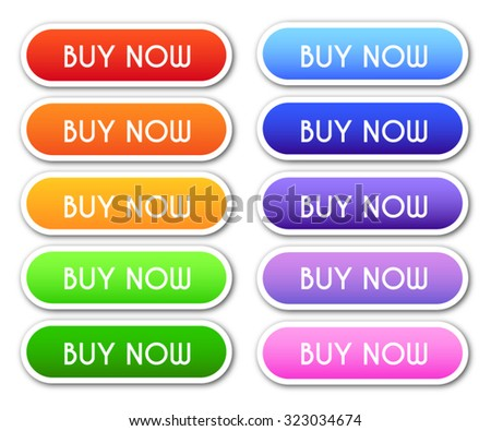 Collection of 'Buy Now' Buttons - stock vector
