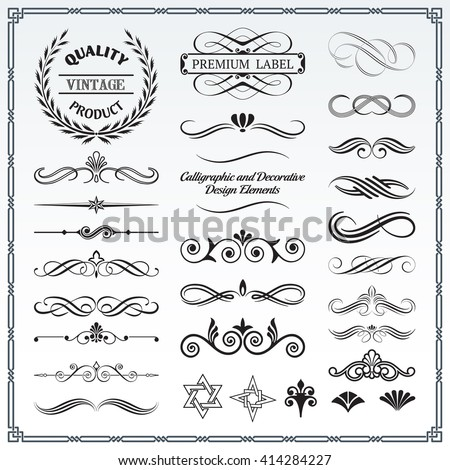 Embellishments stock images royalty free images vectors collection of calligraphic and decorative design patterns embellishments in vector format stopboris Image collections