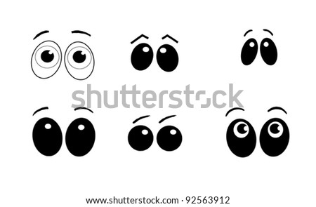 Collection of cartoon eyes displaying emotion