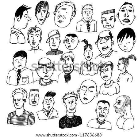 Collection of Characters - stock vector
