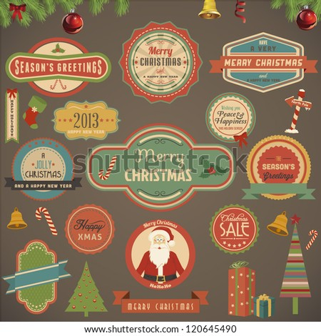 Collection of Christmas Design Elements - stock vector