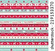 collection of christmas ribbons, red, white and turquoise, vector illustration, eps 10 with transparency - stock vector