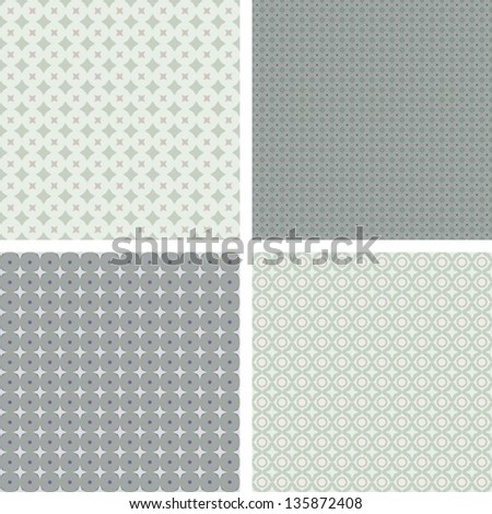 Collection of classic seamless pattern background with neutral colors - ideal for wedding / birthday / anniversary / baby shower and other celebrations - stock vector