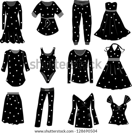 Collection of clothes - stock vector