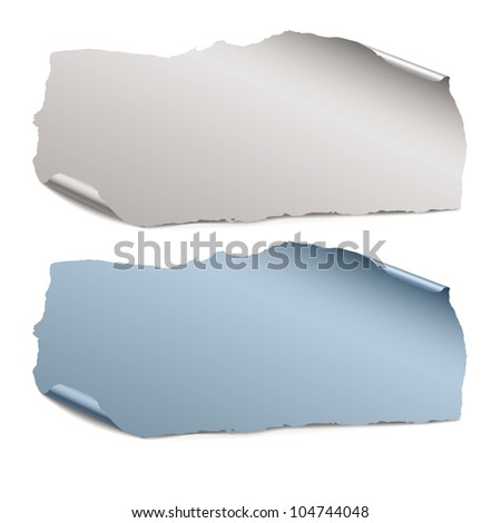collection of  color vector pieces of paper - stock vector