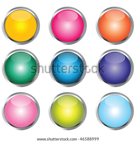 Collection of colored buttons