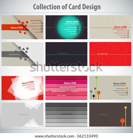 Collection of Colorful Card Design Template