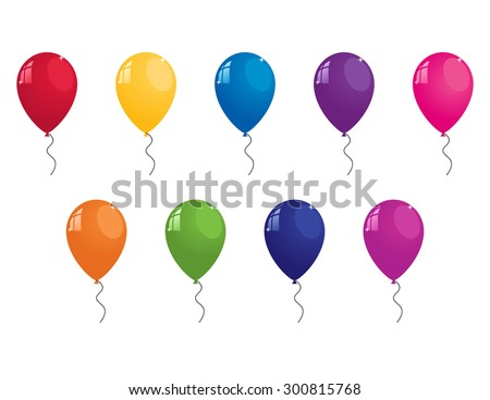 collection of colorful vector balloons