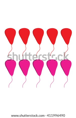 collection of colorful vector balloons - stock vector