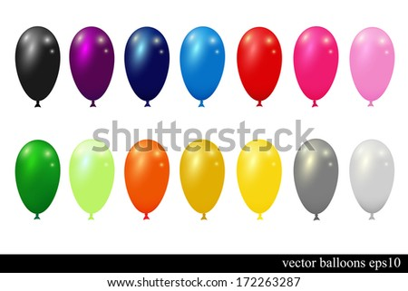 collection of colorful vector balloons for design