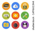 Collection of colorful vector icons in modern flat design style on internet security theme. Isolated on white background. - stock vector