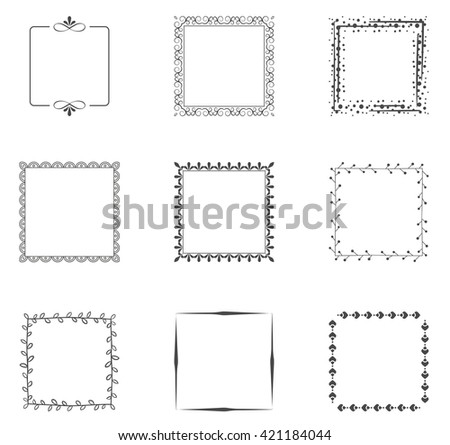 Collection of decorative frames