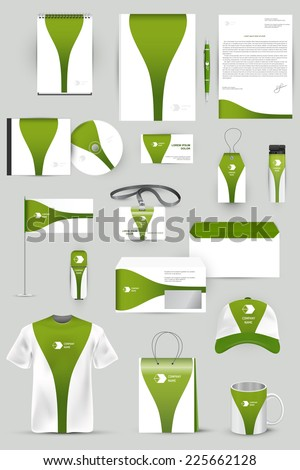 Collection of design elements for corporate identity business, advertising or visualization. - stock vector