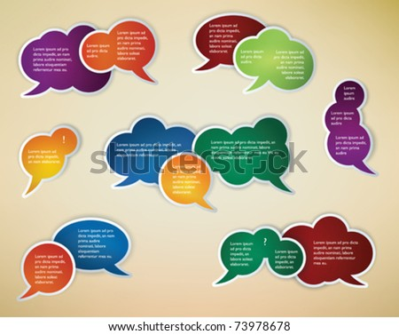 collection of different conversation speech bubbles - stock vector