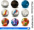 Collection of different marbles - eps 10 images - stock photo