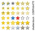Collection of different stars - stock vector