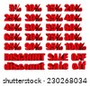 collection of discount numbers isolated on white background - stock photo