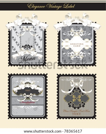 collection of elegance vintage labels - inspired by antique originals - stock vector