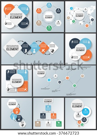 Collection Element Infographic Chart Template Geometric Stock Vector