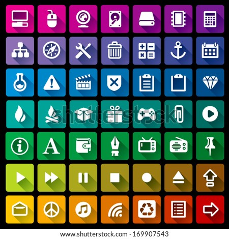 Collection of 49 flat icons - 3
