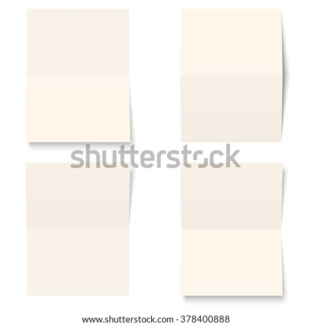 collection of four empty sheets of papers