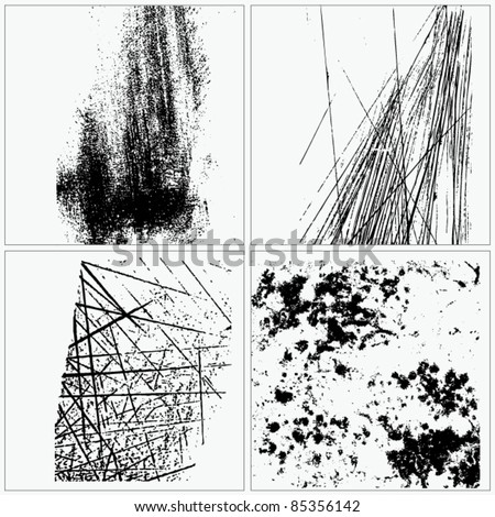 Collection of grunge textures - stock vector