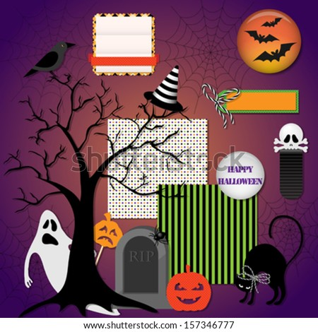 Collection of halloween design elements