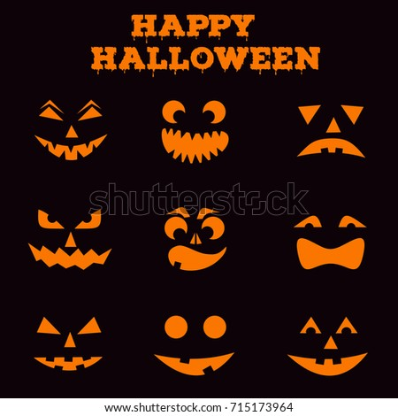 Carving stock images royalty free images vectors for Pumpkin carving silhouettes