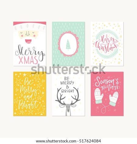 Christmas Card Template Stock Images, Royalty-Free Images